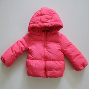 Gap Kids Pink Down Filled Puffer Coat  size 4